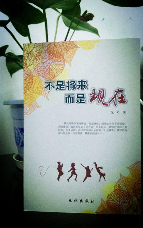 新阳光作文课程学员汪艺新书《不是将来,而是现在》由长江出版社出版